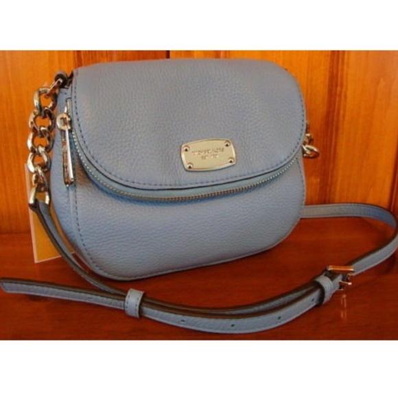 13b746e0a600 Michael Kors Bags | Bedford Blue Leather Crossbody Nwt | Poshmark